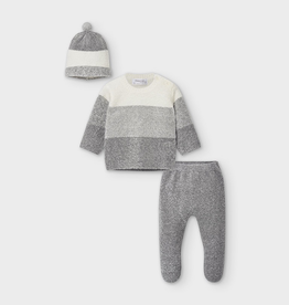 little boy mayoral knit set w/hat