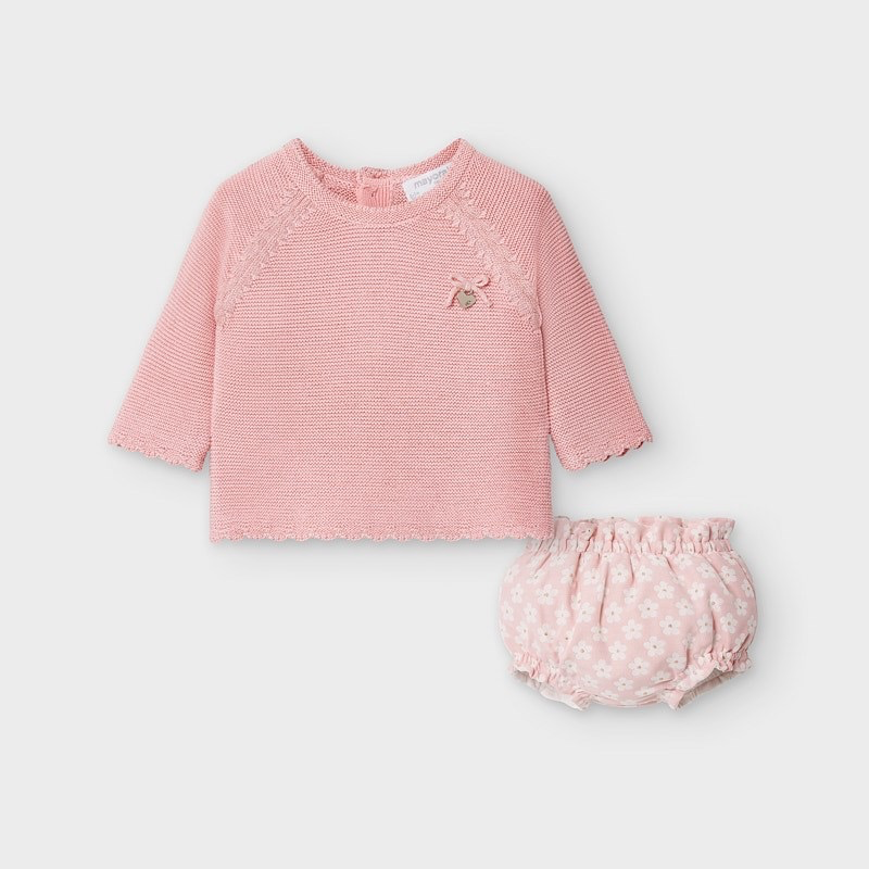 little girl mayoral sweater & bloomers