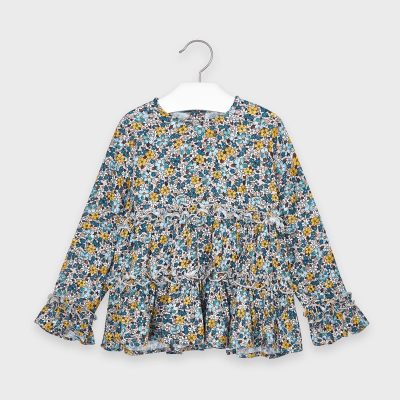 girl mayoral tiered blouse