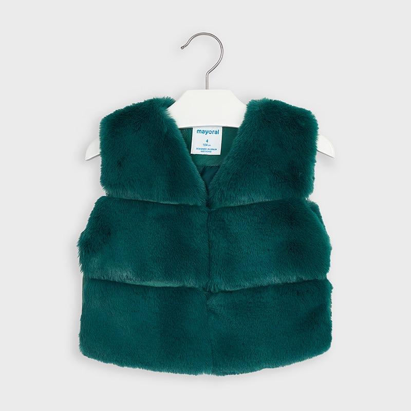 girl mayoral faux fur vest