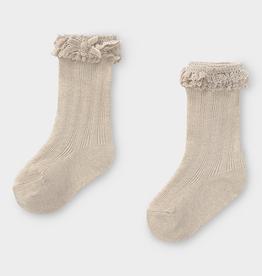 little girl mayoral ruffle trim socks