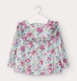 girl mayoral satin blouse