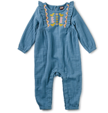 little girl tea collection embroidered ruffle romper