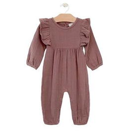 girl city mouse muslin tie romper