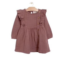 girl city mouse muslin placket dress