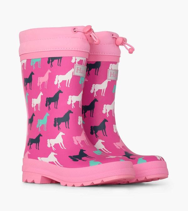 kid hatley sherpa lined rain boots