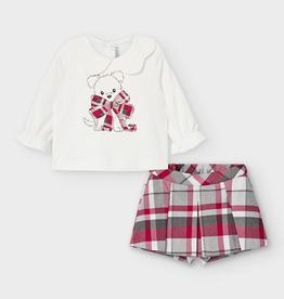 little girl mayoral collared shirt/shorts