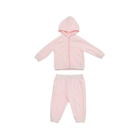 little girl angel dear velour jogging suit
