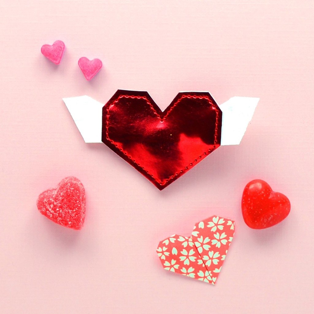 hair Hello shiso origami heart clip