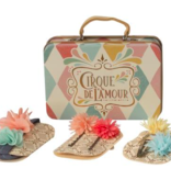 playtime maileg suitcase with mini flower hair clips