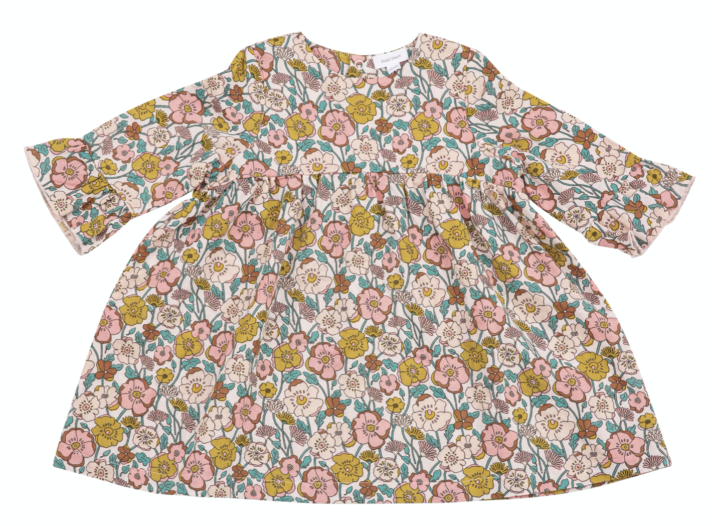 little girl angel dear bell sleeve dress