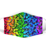 personal care flutter gallery rainbow butterly face mask, adult