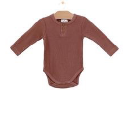little one city mouse organic waffle onesie