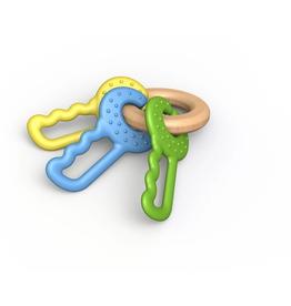 green keys - clutching & teething toy