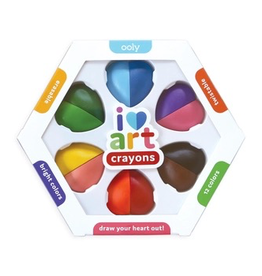 playtime i heart art erasable crayons, set of 6 (12 colors)