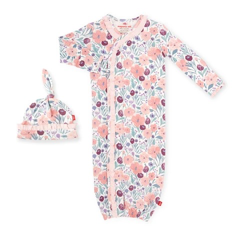 baby magnetic me organic gown set