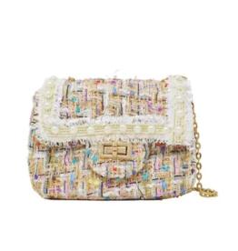 fashion accessory classic tweed bag
