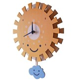 decor modern moose sun pendulum clock