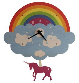 decor modern moose unicorn pendulum clock