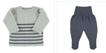 baby petit oh knit sweater and pant set