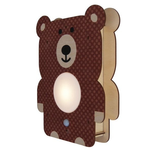 decor modern moose bear nightlight