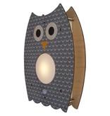 decor modern moose grey owl nightlight