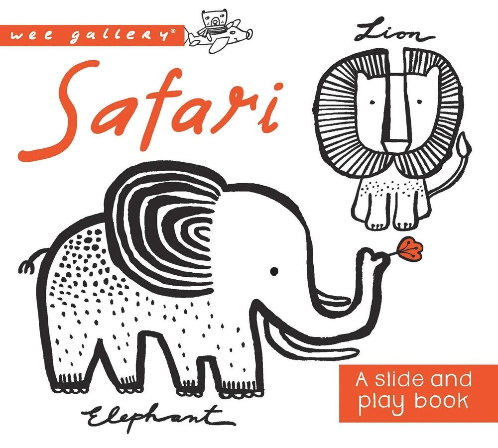 book wee gallery: safari, a slide and play book