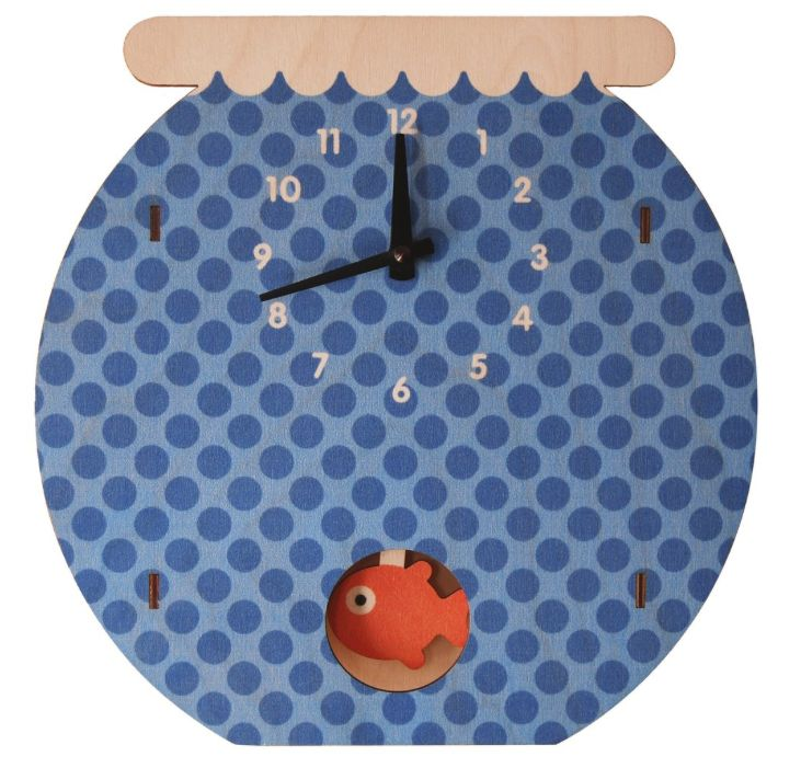 decor modern moose fishbowl pendulum clock