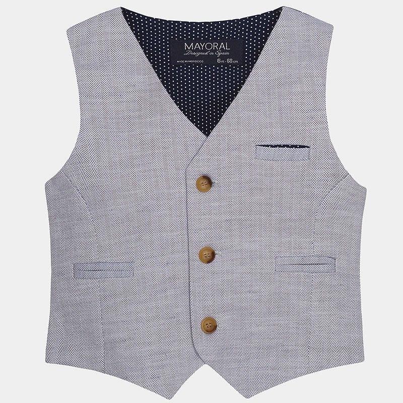 boy linen vest