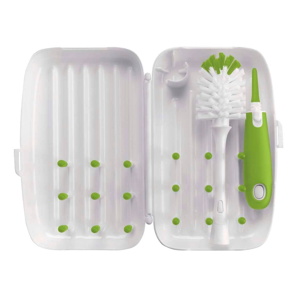functional accessory oxo tot on-the-go drying rack with bottle brush