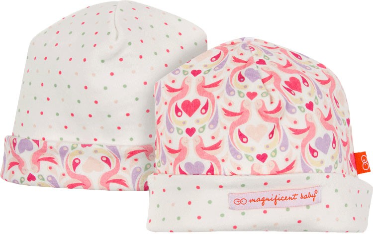 fashion accessory magnificent baby love birds reversible hat
