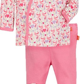 baby girl magnificent baby love birds 3 pc kimono set