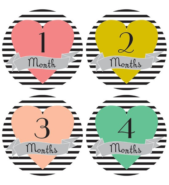 functional accessory 1st year baby stickers (more patterns)