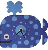 decor modern moose whale clock