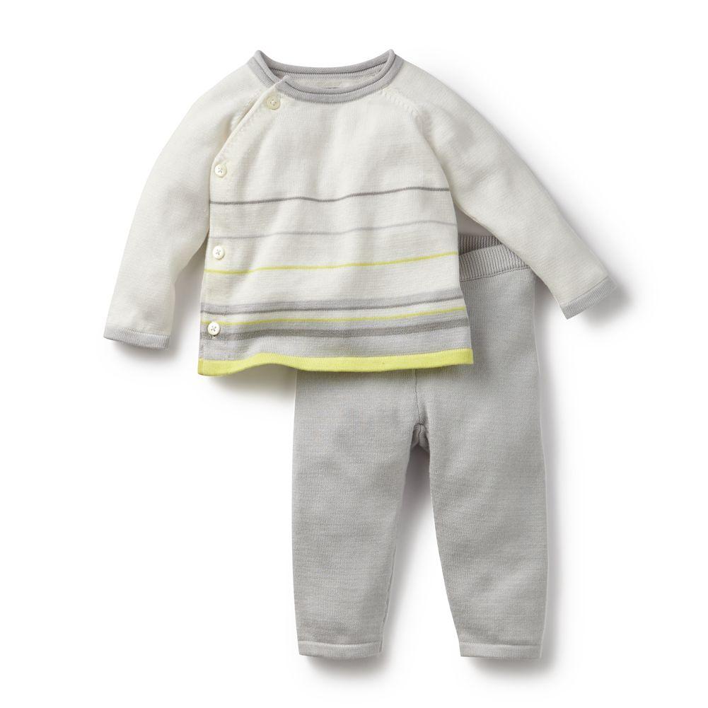 master tea collection yellow stripe suryasta sweater set