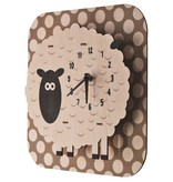 decor modern moose sheep clock