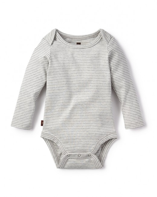 little boy tea collection striped bodysuit
