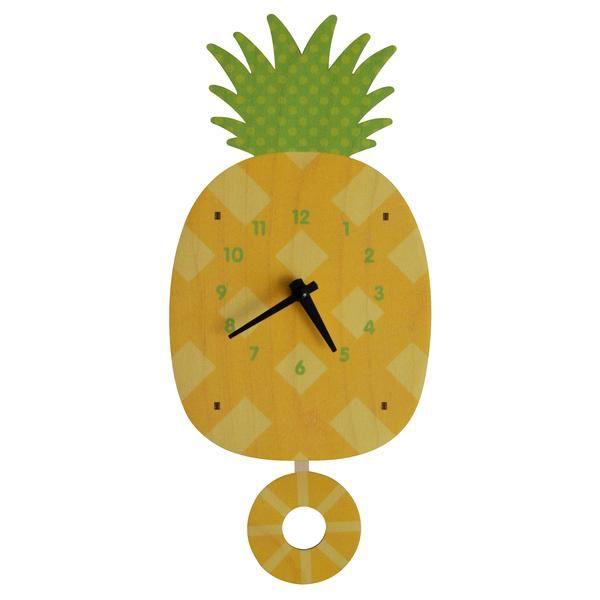 decor modern moose pineapple pendulum clock