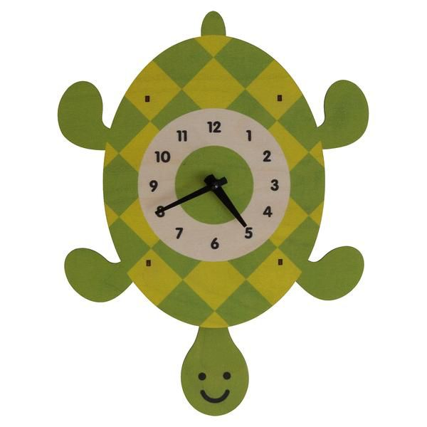 decor modern moose turtle pendulum clock