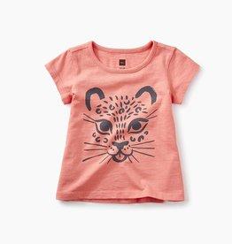 little girl jaguar graphic baby tee