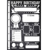 functional accessory Sticky Bellies birthday poster