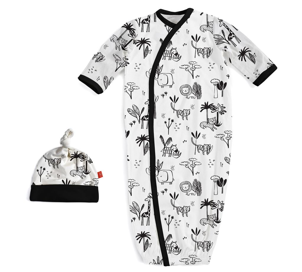 baby magnetic me modal gown & hat set