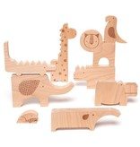 playtime wooden safari playset