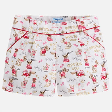 girl hipster dog shorts