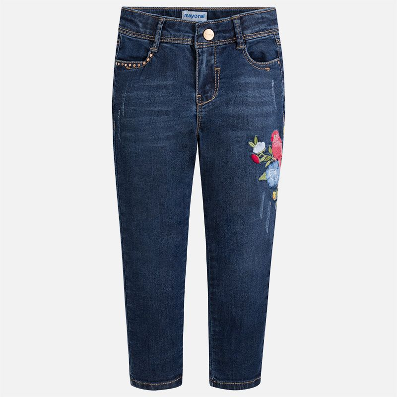 girl embroidered denim