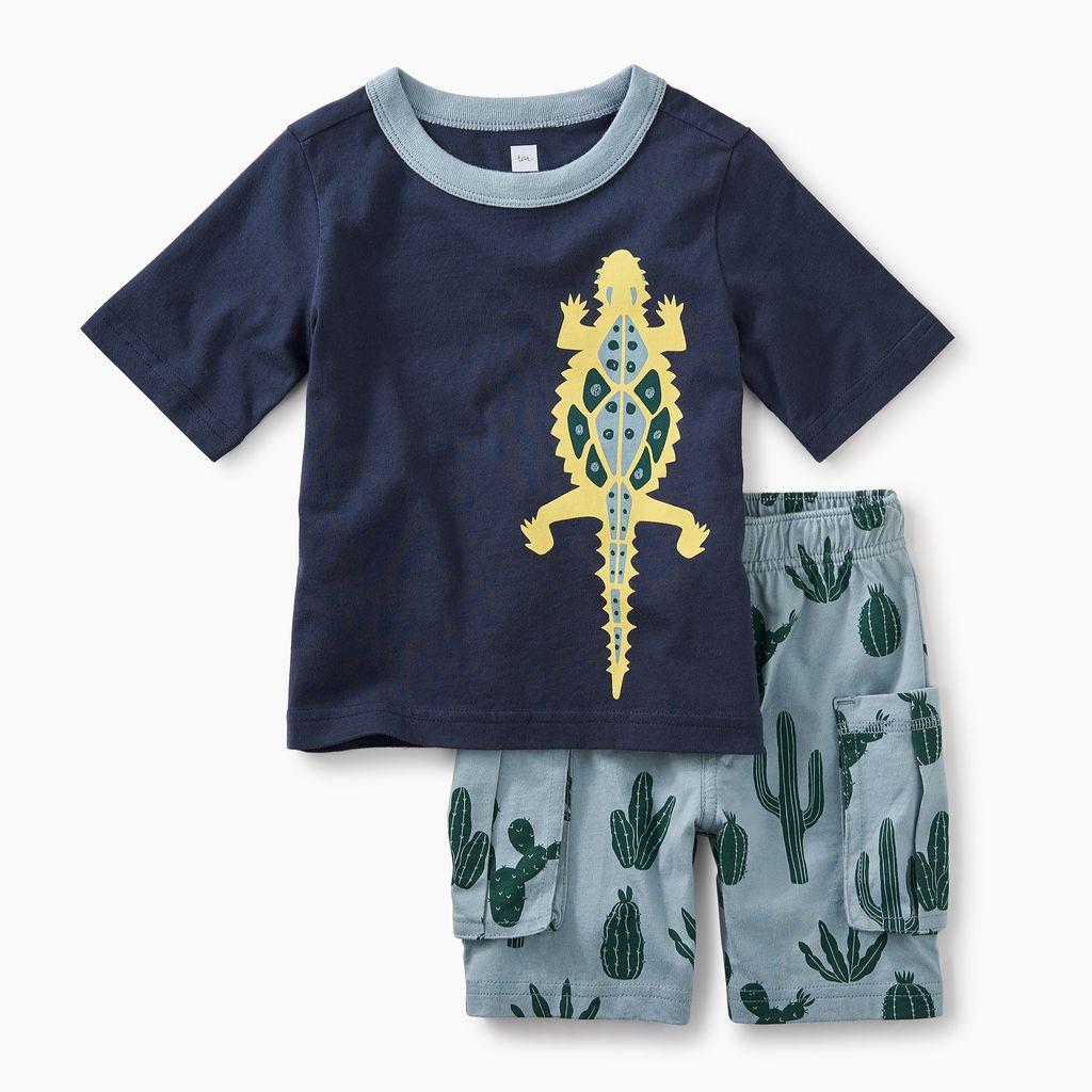 master desert lizard baby outfit