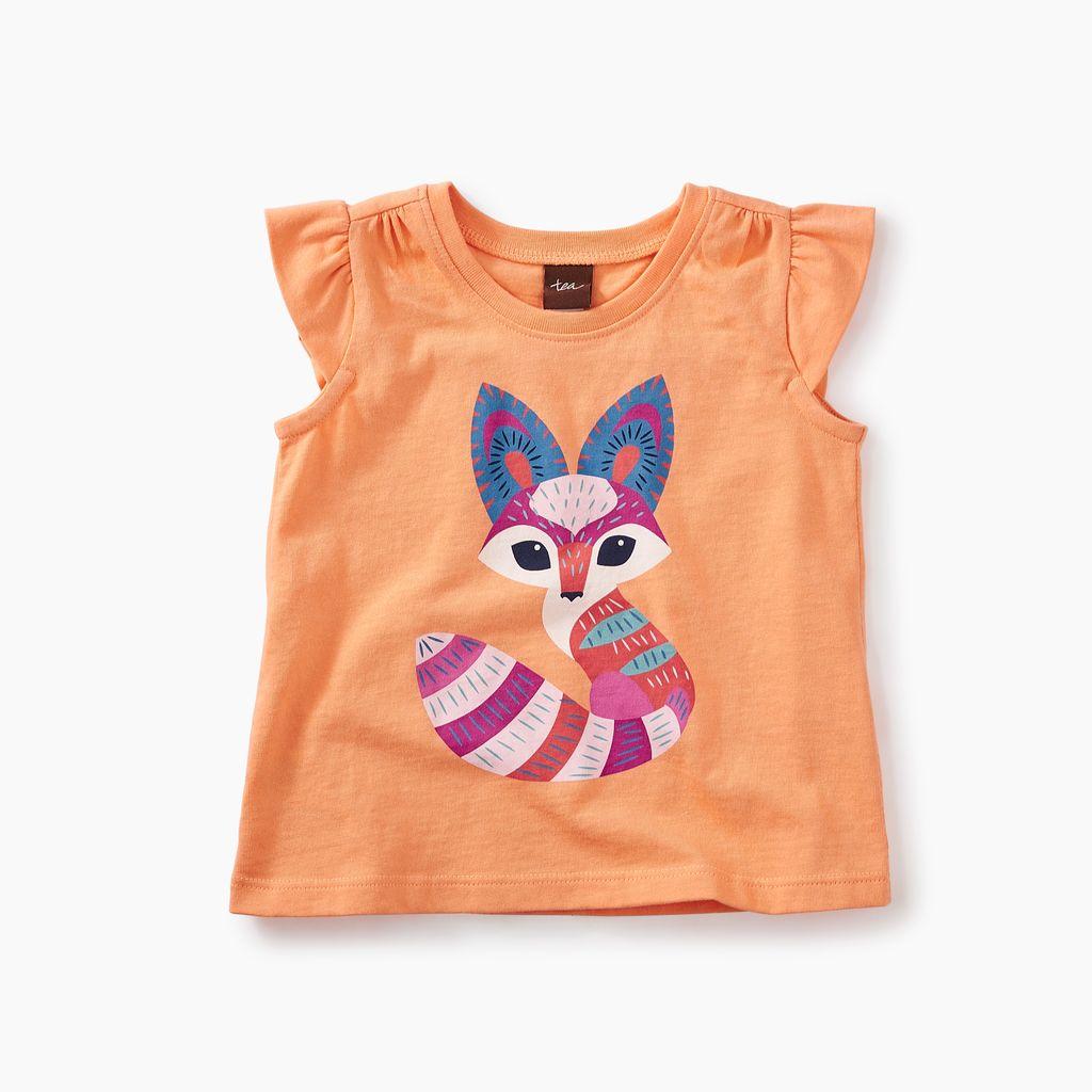 master desert fox graphic baby tee