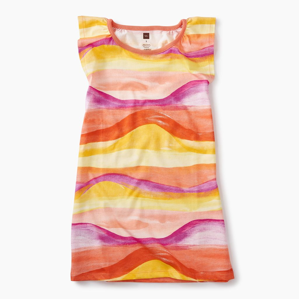 master desert sunset graphic dress