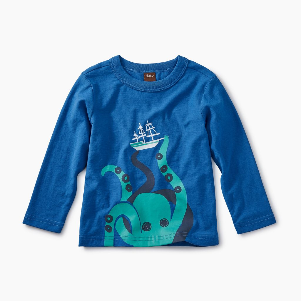 master giant octopus graphic tee