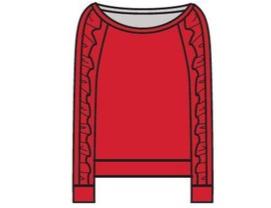 girl chaser love ruffle raglan sweater